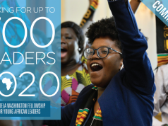 Mandela Washington Fellowship 2020 for Young African Leaders [Fully Funded to USA]