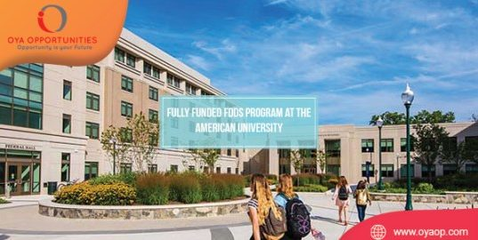 FDDS Program at the American University [Fully-funded]