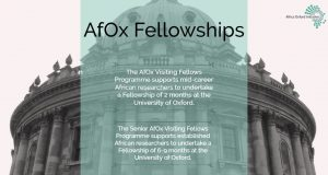 Africa Oxford Initiative (AfOx) Visiting Fellowship 2020 for African Researchers