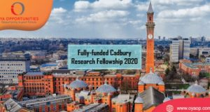 Cadbury Research Fellowship 2020 in the UK [Fully-funded]