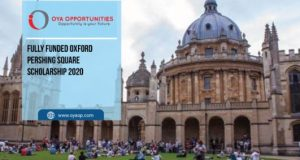 Oxford Pershing Square Scholarship 2020 [Fully-funded]