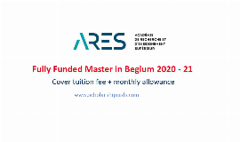 Government of Belgium Sponsored Fully-funded Scholarships 2021-2022 (ARES)