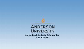 USA Anderson University Int'l Students Scholarships 2021/2022