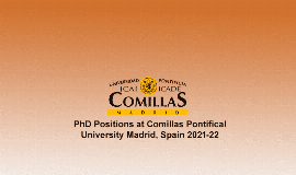 Comillas Pontifical University PhD Scholarships 2021/2022