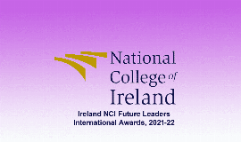 National College of Ireland Future Leaders Int'l Scholarships 2021/2022