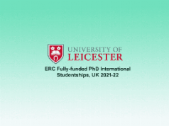 University of Leicester ERC PhD International Studentships 2021/2022