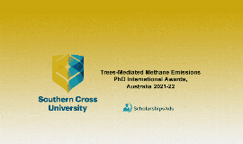 Trees-Mediated Methane Emissions PhD Int'l Scholarships 2021/2022