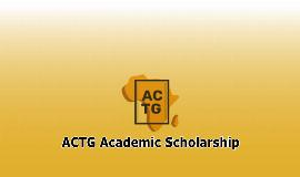 ACTG Academic Scholarship Programme for African Students 2021-2022
