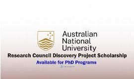 Australian Research Council Discovery Project Scholarship 2021/2022